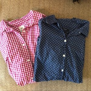 Two button up shirts. GAP and IZOD